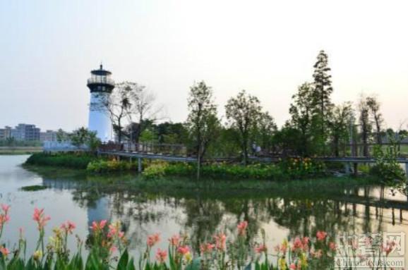 花都湖风光异彩 美景尽收