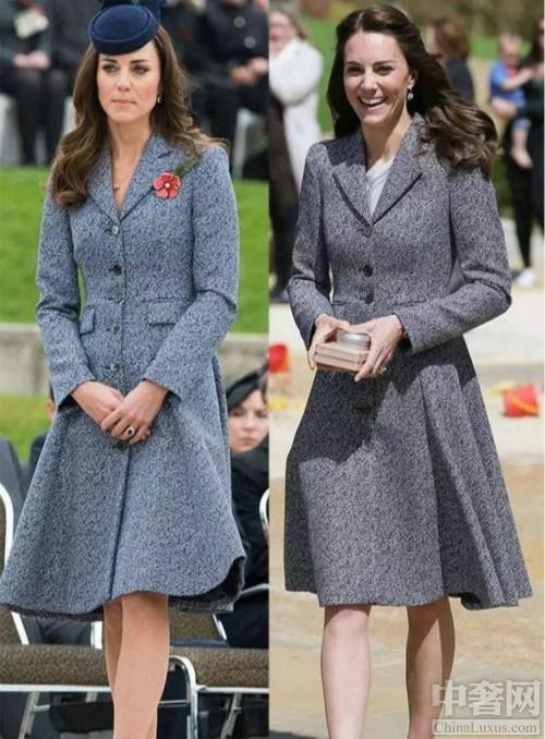 凯特王妃再穿旧衣,哪些经典穿不厌。蓝灰色大衣裙,红色长款大衣,L.K. Bennett连衣裙,还有麦昆套装都是百穿不厌的经典款啊,王妃今年再穿,气质满分。搭配的也是美美的。凯特王妃再穿